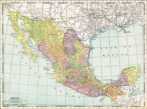 1911 Map of Mexico