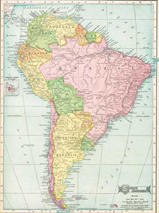 1904 Map of South America