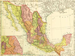 1895 Map of Mexico