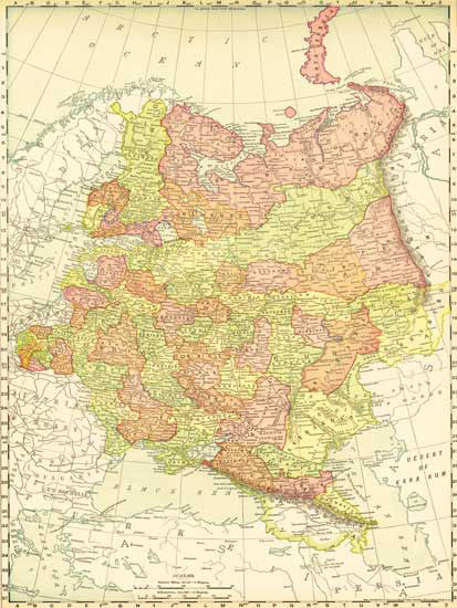 1895 Map of Russia