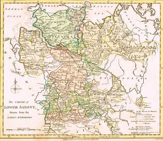 1794 Map of Lower Saxony