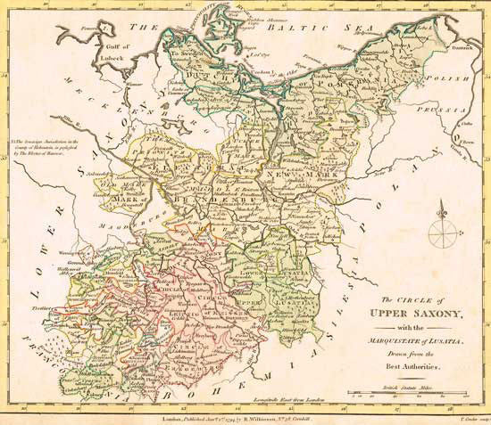 1794 Map Of Upper Saxony Map Fun Stuff For Genealogists Inc