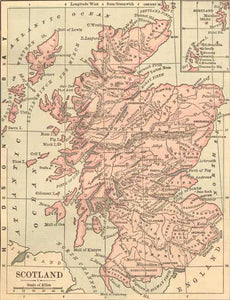 1882 Map of Scotland