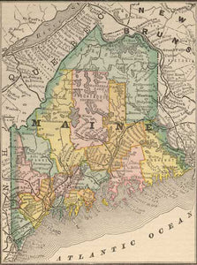 1884 Map of Maine