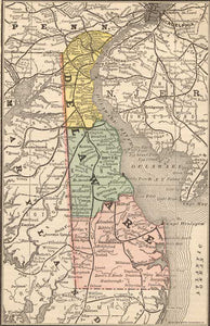 1884 Map of Delaware