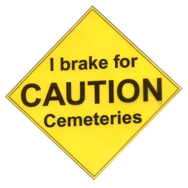 Gone, but BACK again!!! Static Cling Cemetery Sticker