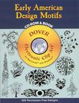 Early American Design Motifs CD-ROM and Book Clip Art