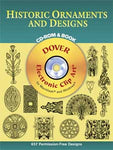 Historic Ornaments & Designs CD-ROM & Clip Art
