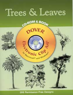 Trees and Leaves CD-ROM & Book Clip Art