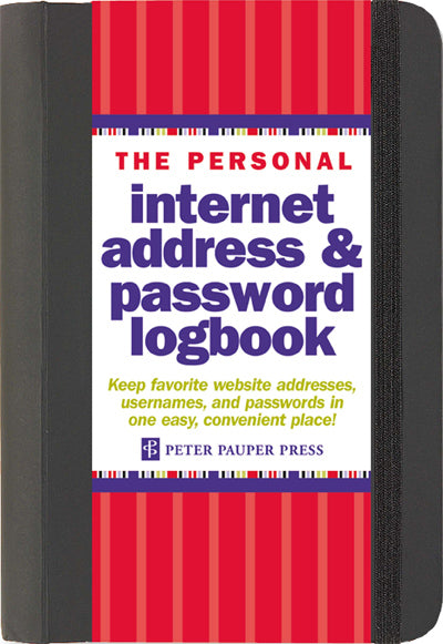Internet Address & Password Logbook - Large