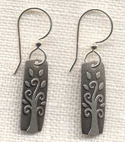 Silvertone Rectangular Earrings