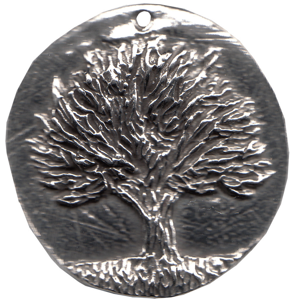 "Pewter Knowledge Tree Pendant - 1-1/4"" je-427"