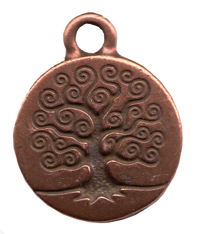 "Copper Family Tree Pendant - 5/8"" je-245"