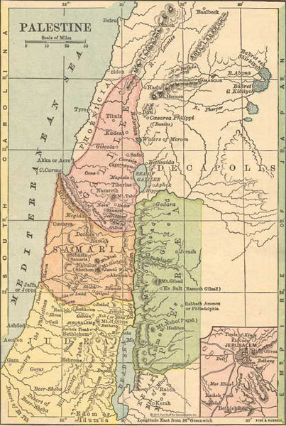 1882 Map of Palestine