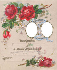 SALE! 1902 Marriage Certificate