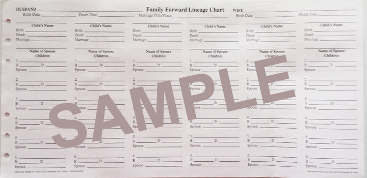 Mini Binder refill - Family Forward Lineage form