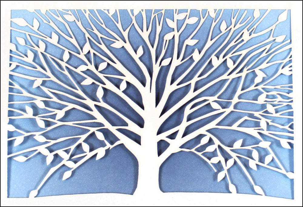 Laser Tree of Life Note Cards