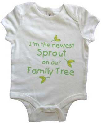 "Baby One Piece ""Newest Sprout"" Outfit"