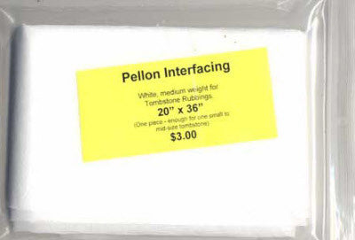 Pellon for Tombstone Rubbings