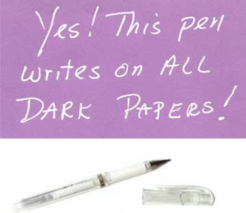 Opaque Pens for dark papers!