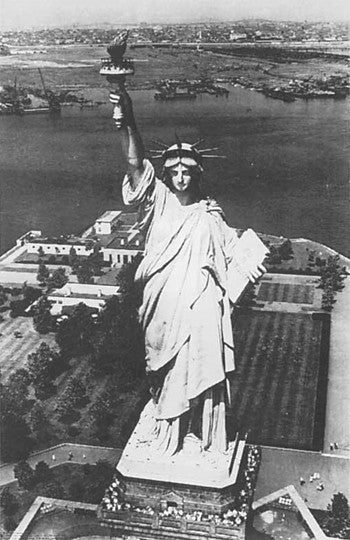 Poster - Statue of Liberty Aerial View