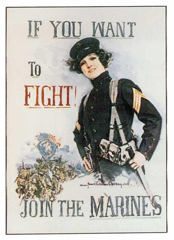 "Poster ""If you want to fight, join the Marines"""