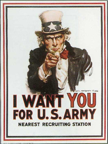 "Poster ""I want YOU for the U. S. Army"""