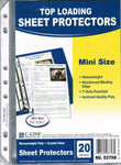 "Top Loading 5-1/2"" x 8-1/2"" Mini Sheet Protectors"