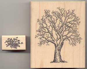 Large Tree and Folliage Stamp