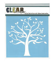 Family Tree Stencil - Clear Scraps