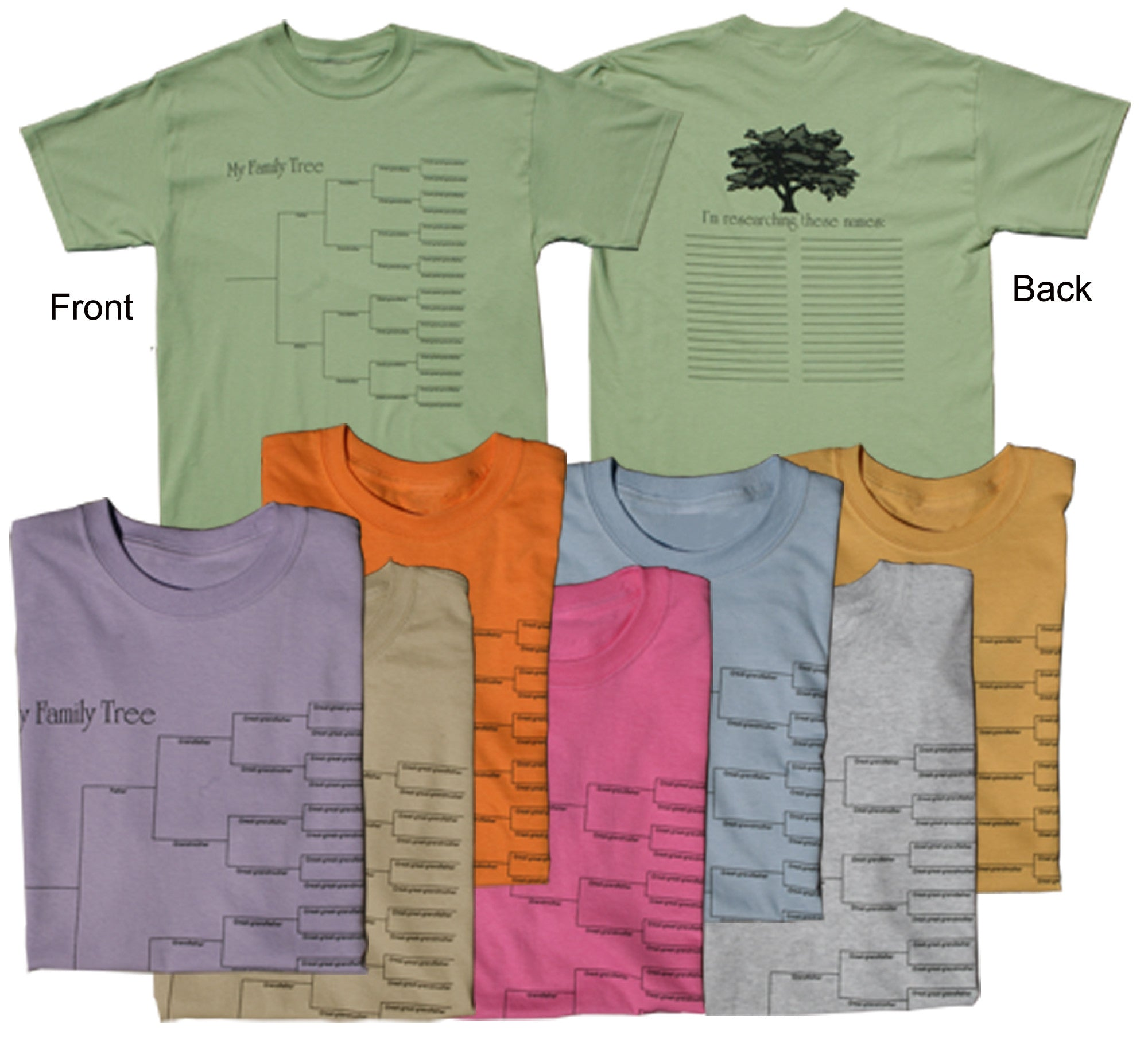 Pedigree & Surname List T-Shirt