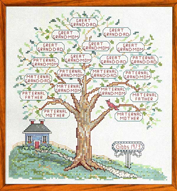 Family Tree II Counted Cross Stitch Pattern