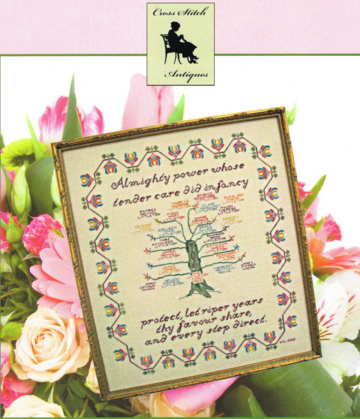 Almighty Power Family Tree Cross Stitch Pattern