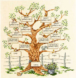 Family Tree I Counted Cross Stitch Pattern