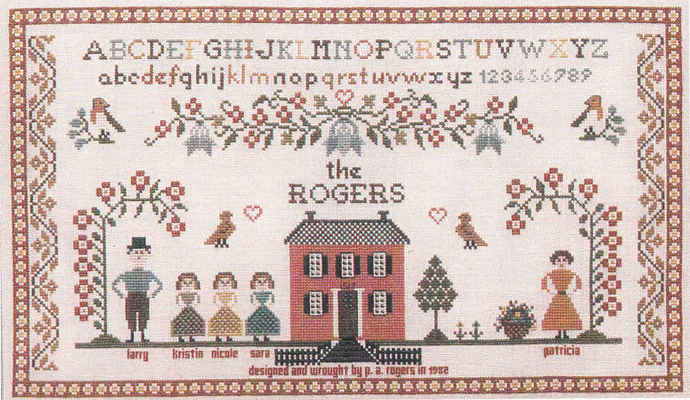Family Sampler Cross Stitch Pattern