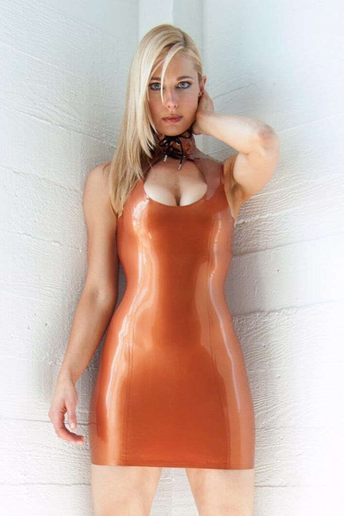 Boobie Bronze Latex Dress