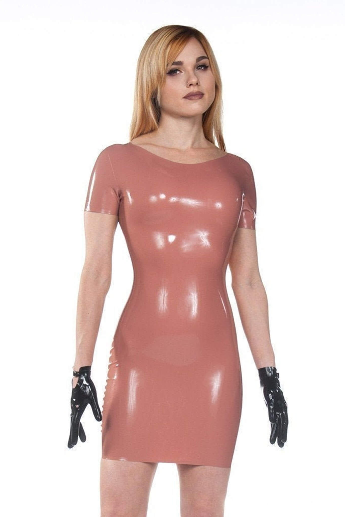 Jane Chocolate Latex Dress