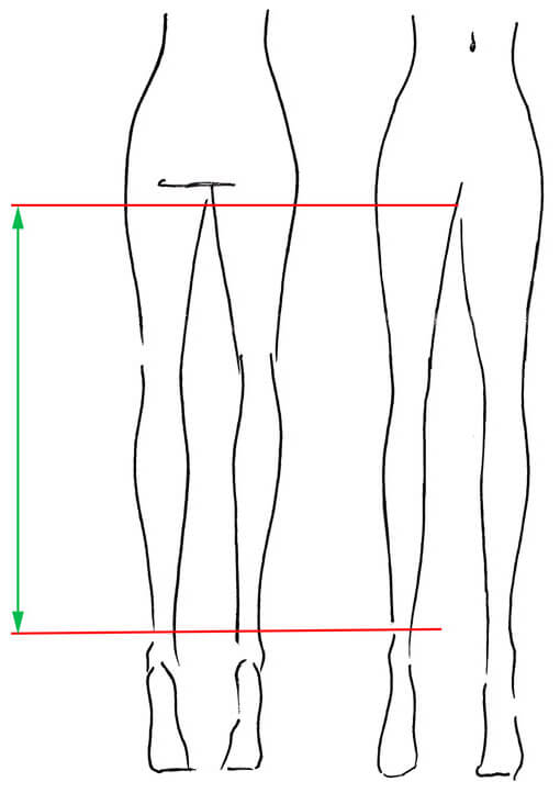 how to measure stockings
