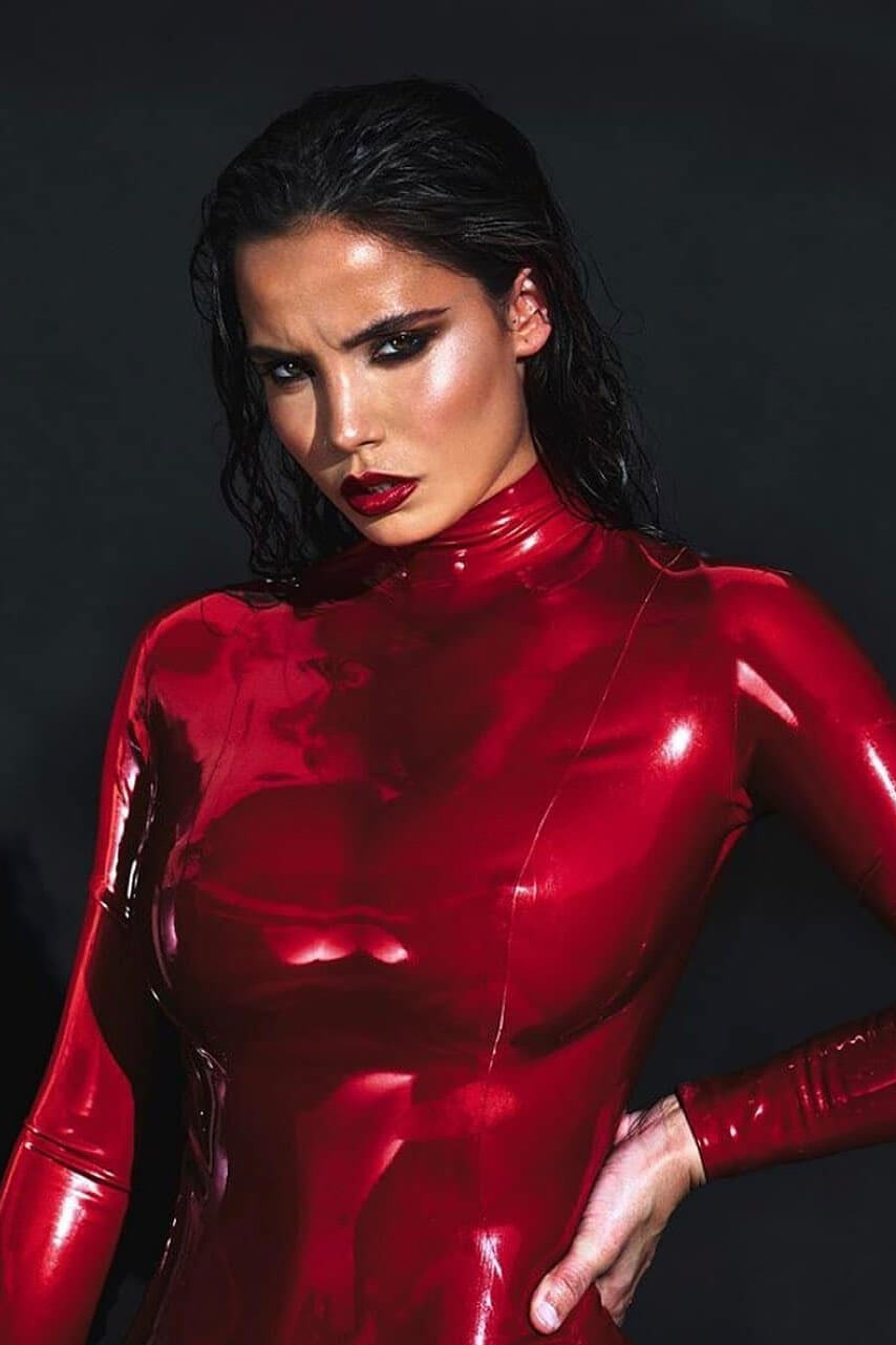 Metallic Red Latex