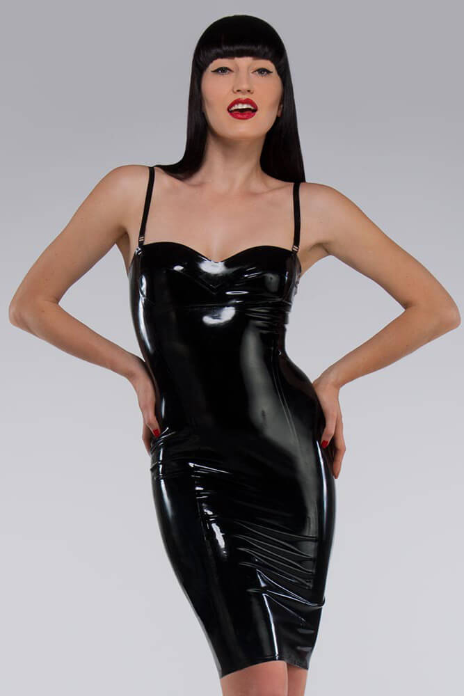 Newmar Black Latex Dress