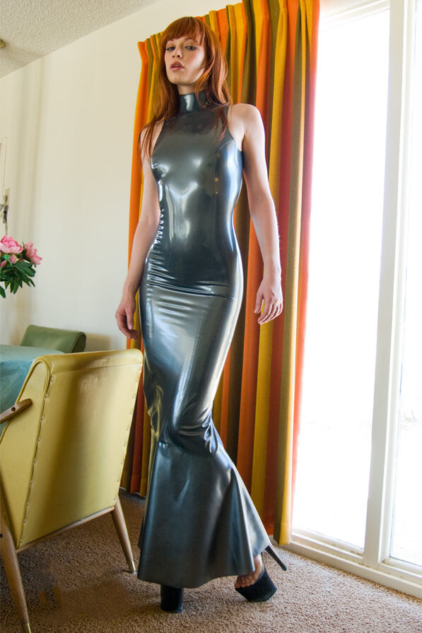 Pearl Pewter Latex Dress