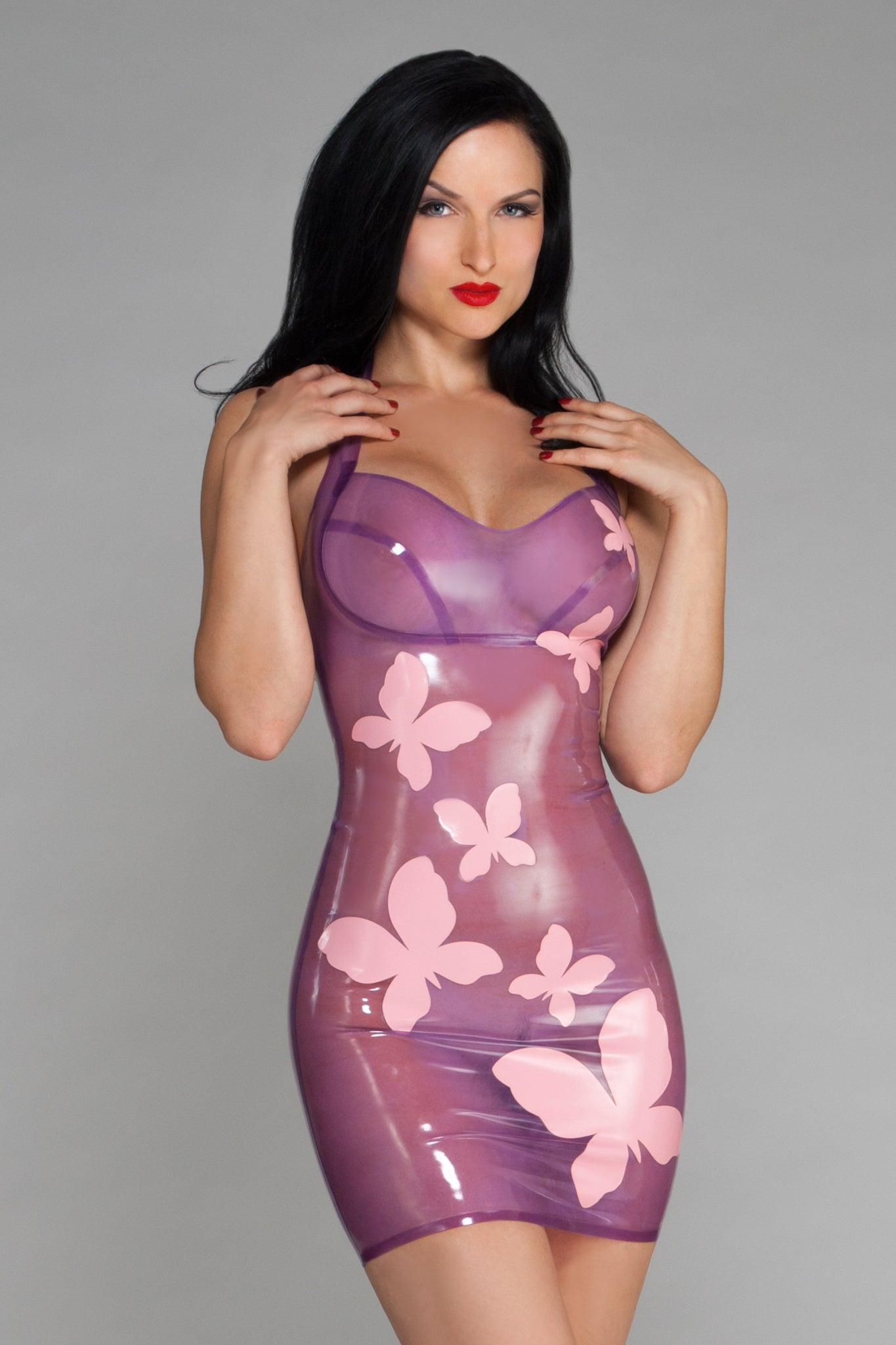Transparent Lilac Latex Dress