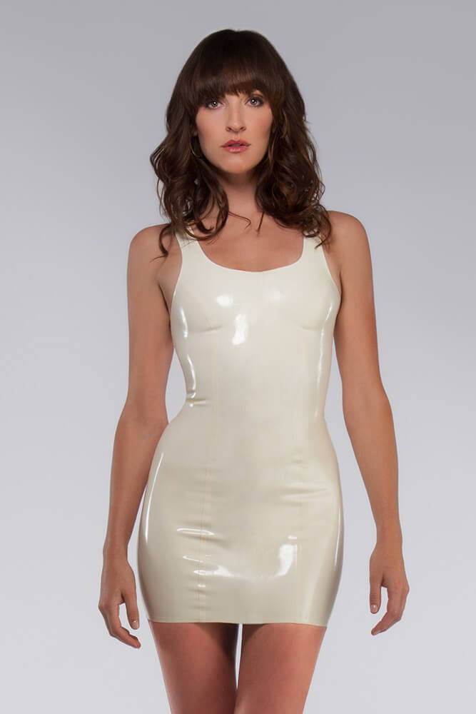 White Tank Latex Dress