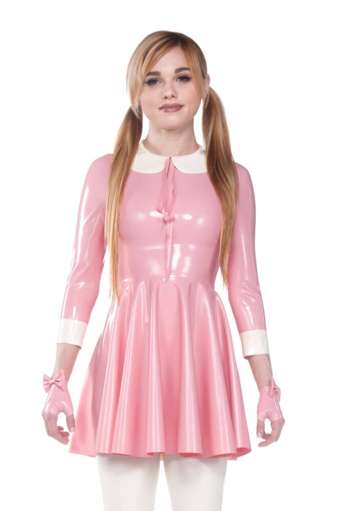 Wednesday Pink Latex Dress