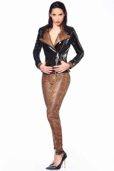 Ann Vegan Leather Snakeskin Jacket