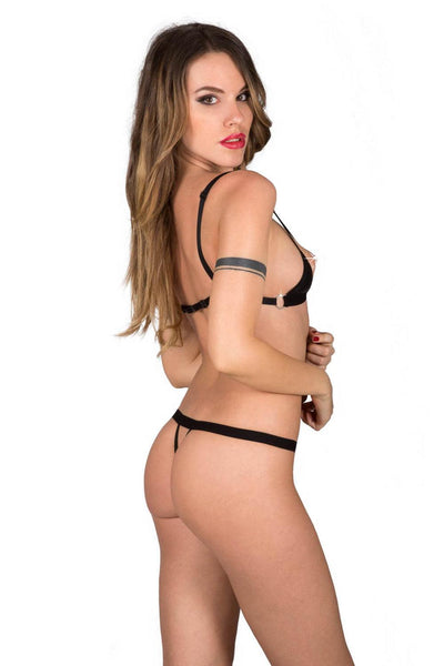 Eros Open Crotchless Lingerie Set