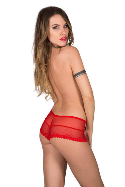 Eros Red Lace Culotte Shorty