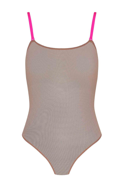Corps à Corps Thong Bodysuit • Ginger Neon Pink