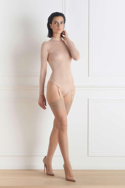 Corps à Corps Thong Bodysuit • Nude Neon Green