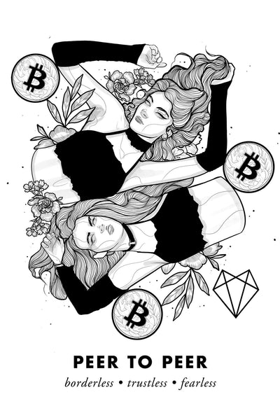 Bitcoin Art in Frame • Alli Julie x Peer to Peer